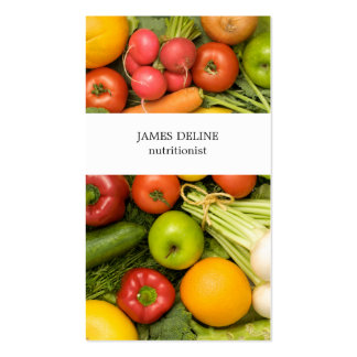 Unique Vegetables Nutritionist Pack Of Standard Business Cards