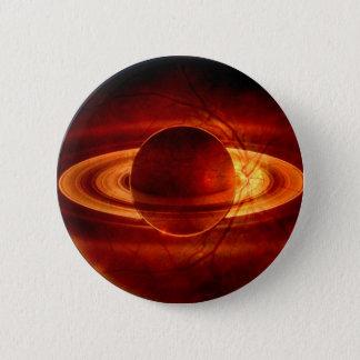 Unique view of Saturn 6 Cm Round Badge