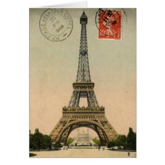 Unique Vintage Eiffel Tower Paris France  - Cards