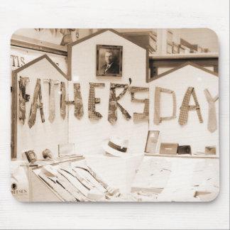 Unique Vintage Father's Day Tie Photograph Mouse Pad