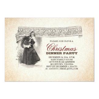 unique vintage Santa christmas party invitations