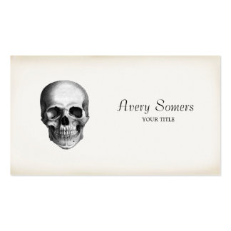 Unique Vintage Skull Etching Aged Business Pack Of Standard Business Cards
