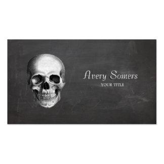 Unique Vintage Skull Etching Black Business Pack Of Standard Business Cards
