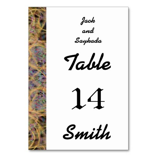 Unique Wedding Template Table Cards