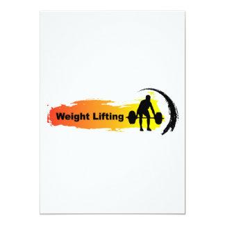 Unique Weight Lifting Logo 13 Cm X 18 Cm Invitation Card