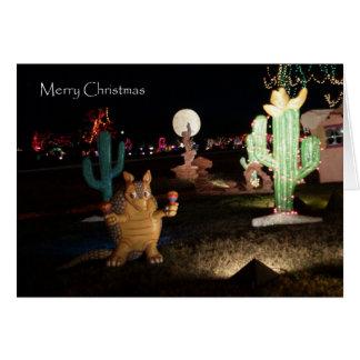 Unique Western Christmas Card -- Armadillo