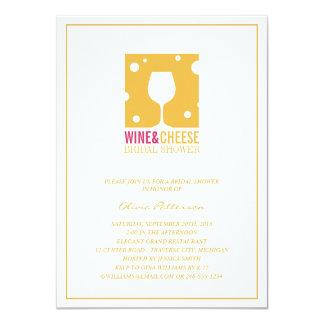 Unique Wine And Cheese Bridal Shower Invitations