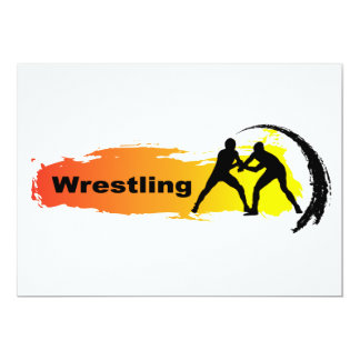 Unique Wrestling Emblem 13 Cm X 18 Cm Invitation Card