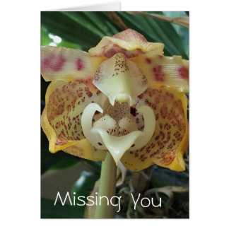 Unique Yellow Flower Missing You Card