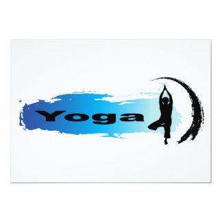 Unique Yoga 13 Cm X 18 Cm Invitation Card