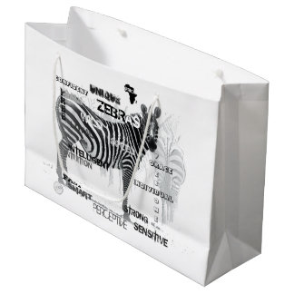 Unique Zebras Large Gift Bag