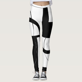 uniquely black&white leggings