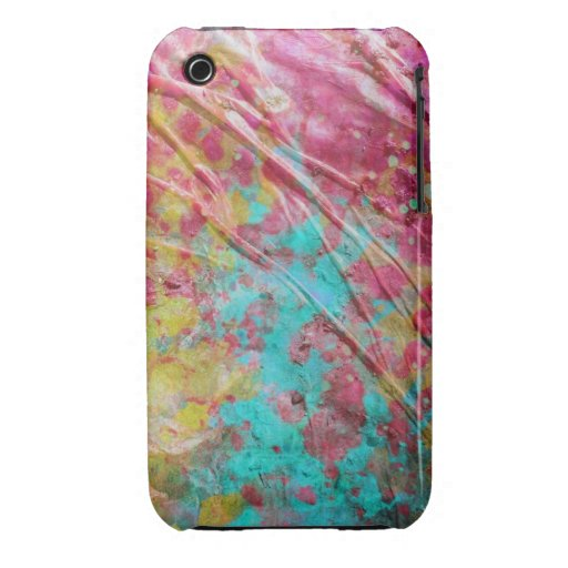 Uniquely Wrinkled Paint Spatter Case iPhone 3 Cover