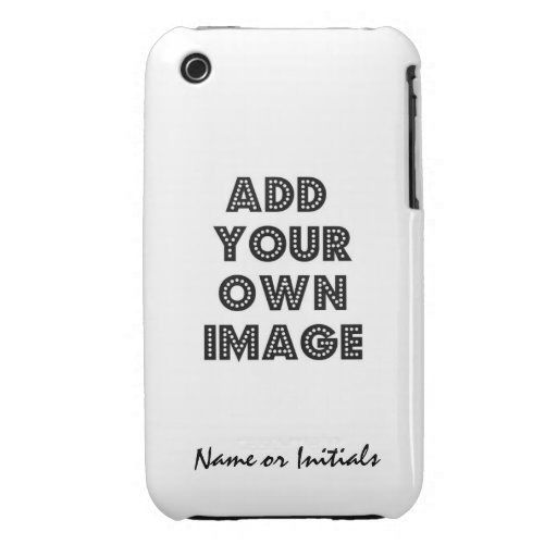 Uniquely YOU  Art or Photo with Personalization iPhone 3 Case-Mate Case