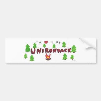 Unirondack 2010 Heart Bumper Sticker