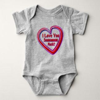 Unisex babysuit with Love text Baby Bodysuit