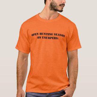 Unisex Basic T-Shirt w/ Open hunting season on