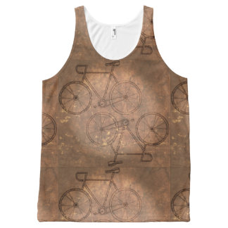 Unisex Bicycle Tank Top All-Over Print Tank Top