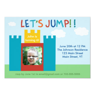 Unisex Birthday Party Invitation (Bouncy House)