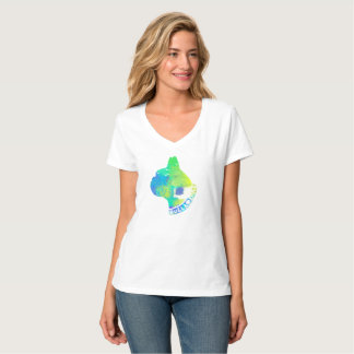 Unisex Cool Dog Lovers Watercolor Design T-Shirt