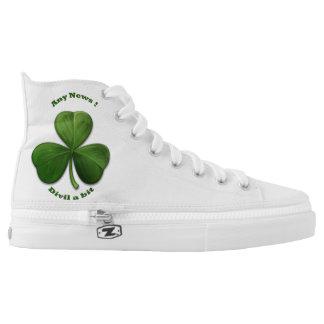 Unisex Custom Sneakers. Old Irish Sayings Printed Shoes
