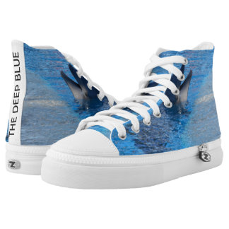 Unisex Dolphin- Custom Zipz High Top Shoes