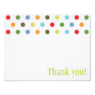 Unisex Dots Thank You Note Card