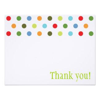 Unisex Dots Thank You Note Custom Invites