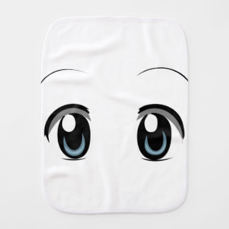 Unisex Fun Baby Anime Print Design Burp Cloth