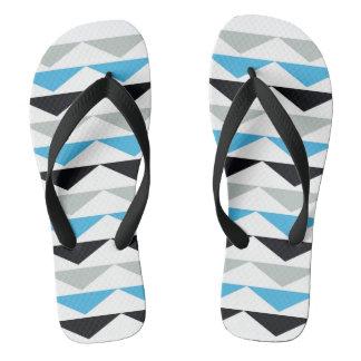 Unisex Geometric Print Flip Flops Thongs