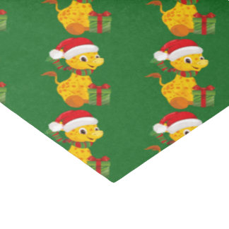 Unisex giraffe Baby's First Christmas tissue paper