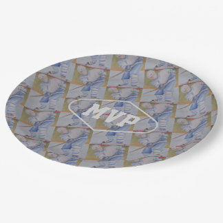 UNISEX HOCKEY PLAYER PAPER PLATE