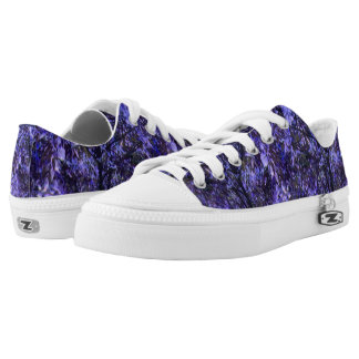Unisex Low Top Shoes w. Digital Art 'Purple Trees'