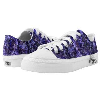 Unisex Low Top Shoes w. Digital Art 'Purple Trees' Printed Shoes
