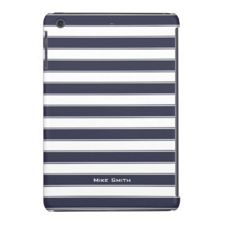 Unisex Monogram Classic Stripes Pattern, charcoal iPad Mini Retina Cover