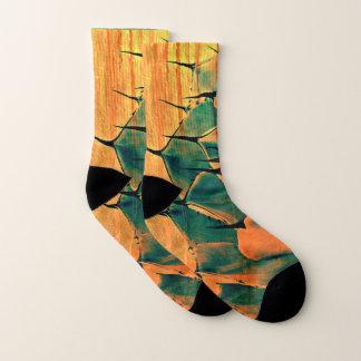 Unisex Orange/Green Cactus Socks 1