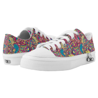 Unisex Paisley Zipz Low Top Shoes