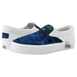 Unisex Slip-On Shoes w. Digital Spaceship Interior