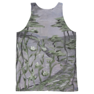 Unisex Tank Top Beach Forest All-Over Print Tank Top