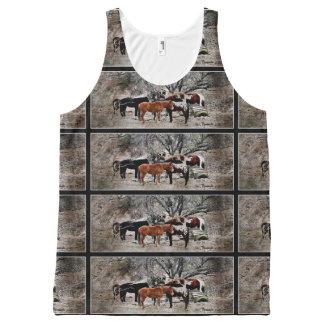 "Unisex Tank Top ""Wickenburg Horses"" All-Over Print Tank Top"
