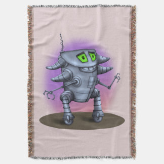 UNIT ALIEN ROBOT CARTOON Throw Blanket