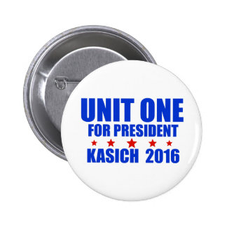 Unit One for President Kasich 2016 6 Cm Round Badge