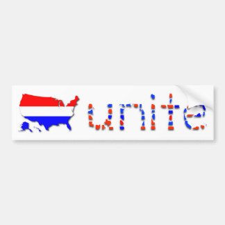 """Unite the U.S."" Bumper Sticker - White"