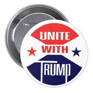 Unite with Trump 7.5 Cm Round Badge