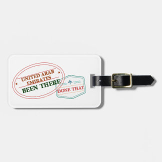 United Arab Emirates Been There Done That Luggage Tag
