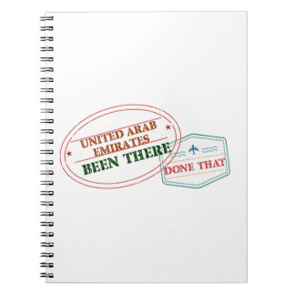 United Arab Emirates Been There Done That Notebooks