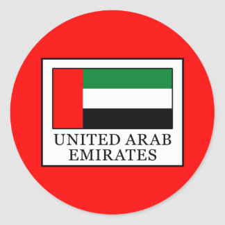 United Arab Emirates Classic Round Sticker