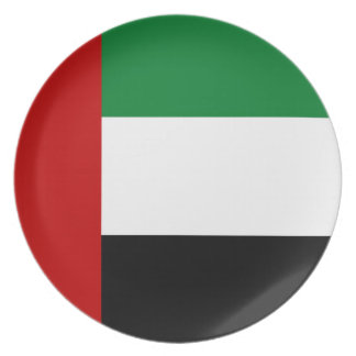 united arab emirates country flag plate