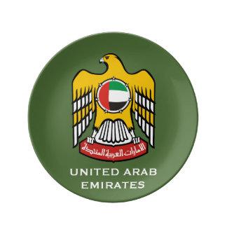 United Arab Emirates Crest Plate Porcelain Plate