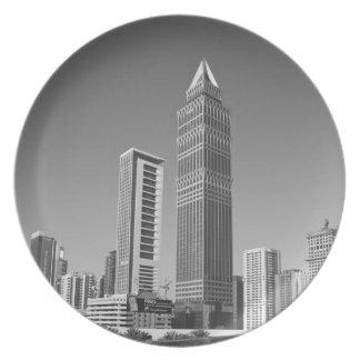United Arab Emirates, Dubai, Dubai City. 2 Party Plate